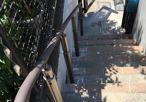 「屋外階段手すり」の施工後写真